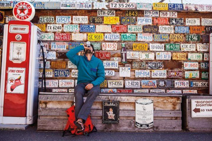 Patagonia flip-flops soda