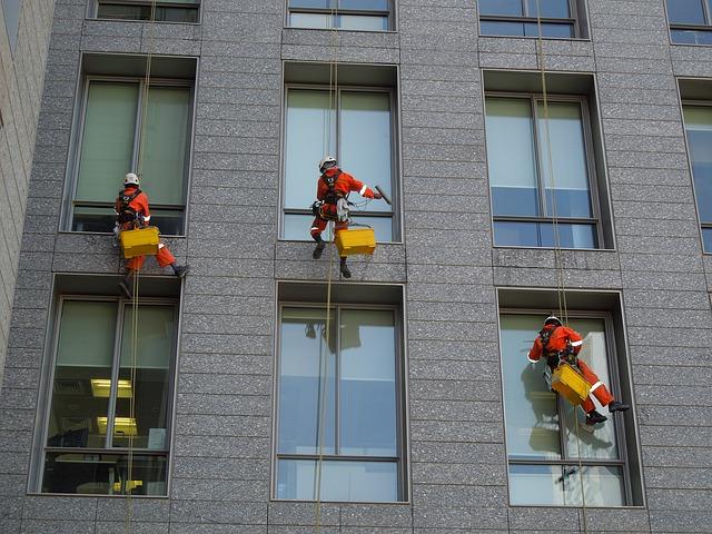 mytí oken výklady